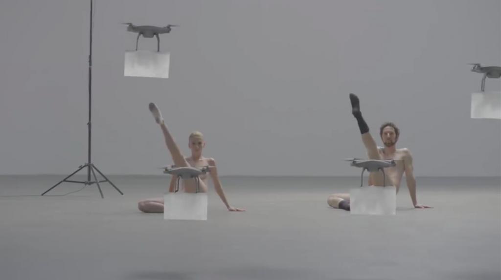 Naked, Drone-Censored Ballet