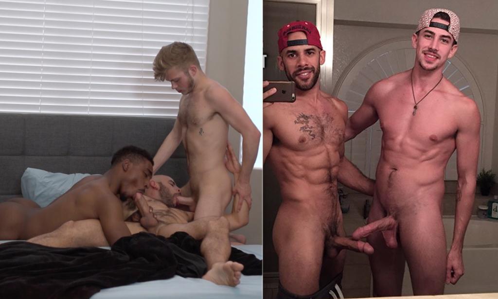 Austin Wilde Has Threesome With Boyfriends Jaxx Chance And Austin Ryder, Fucks Jack Hunter Live