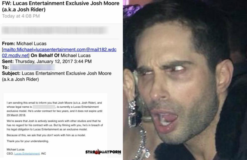 Exclusive: Michael Lucas Caught Threatening Gay Porn Studios Over Model Josh Moore—Despite Bogus Contract