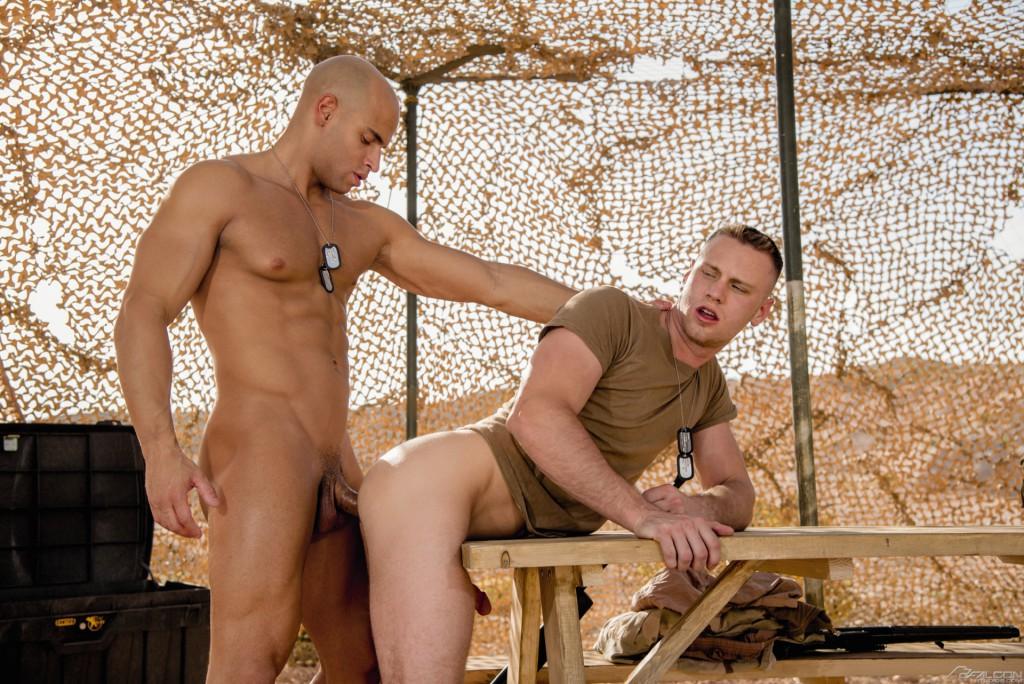 Sergeant Sean Zevran Fucks Brandon Evans On Falcon's Military Base