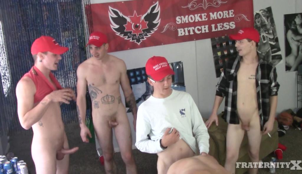 "Gay Porn Stars Wearing MAGA Hats Scream ""Trump And Pump!"" While Gangbanging A Bottom Bareback"