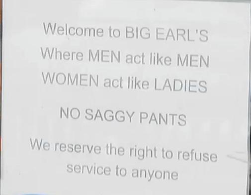 No Fags Allowed…