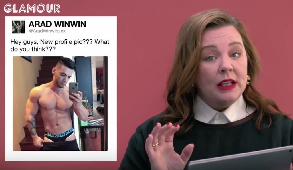 "Melissa McCarthy Tells Gay Porn Star Arad Winwin: ""Pull Your Pants Up"""