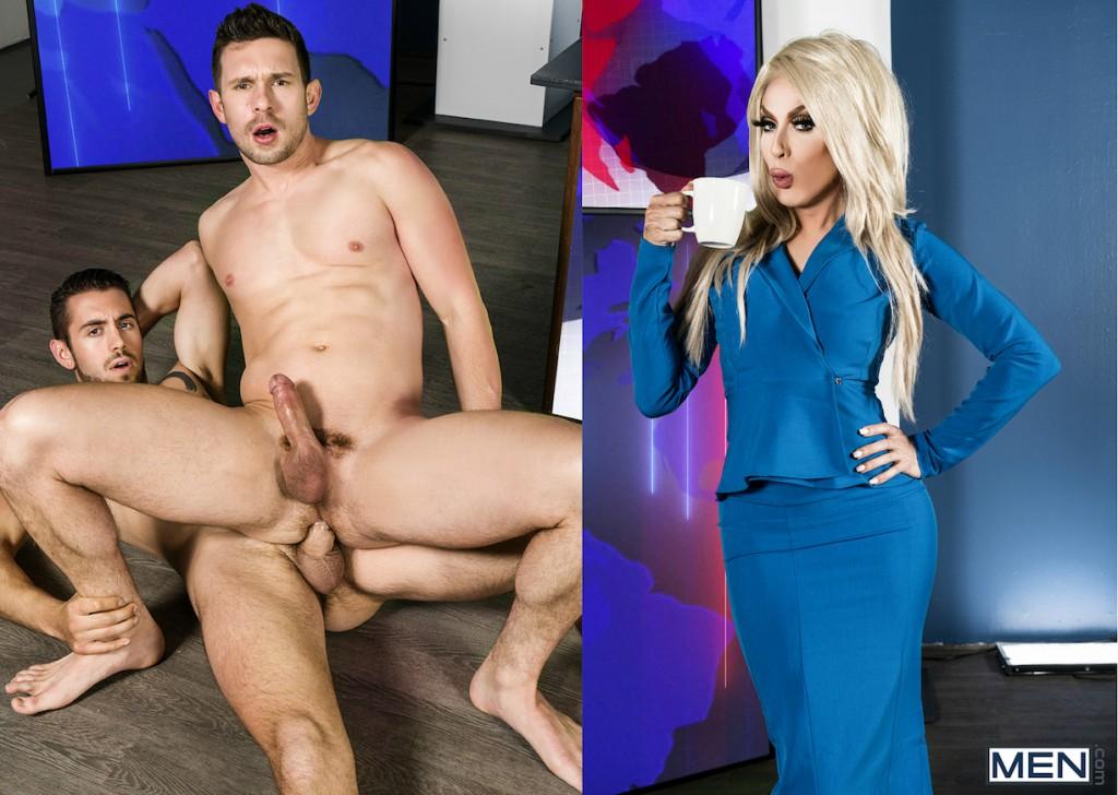 "Dante Colle, Casey Jacks, And Alaska Thunderfuck Star In Bareback Gay Porn Scene ""Ass Controller 9"""
