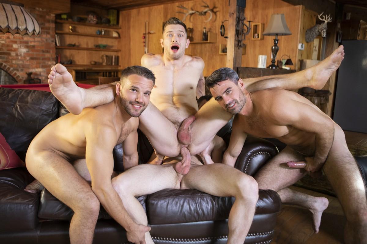 Bareback Orgy Outdoor