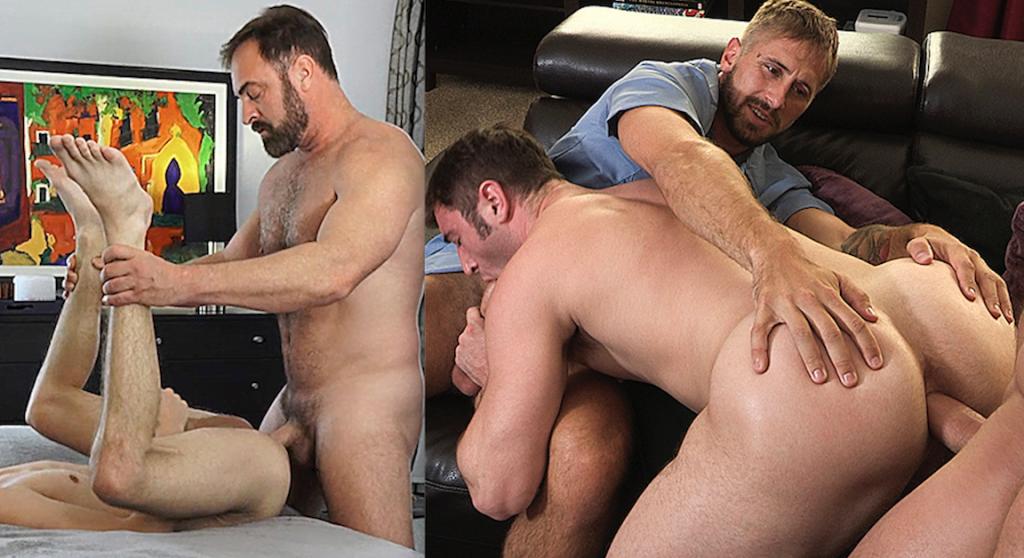 Family-Themed Bareback Gay Porn Update: Wesley Woods, Myles Landon, Michael Boston, And Kristofer Weston